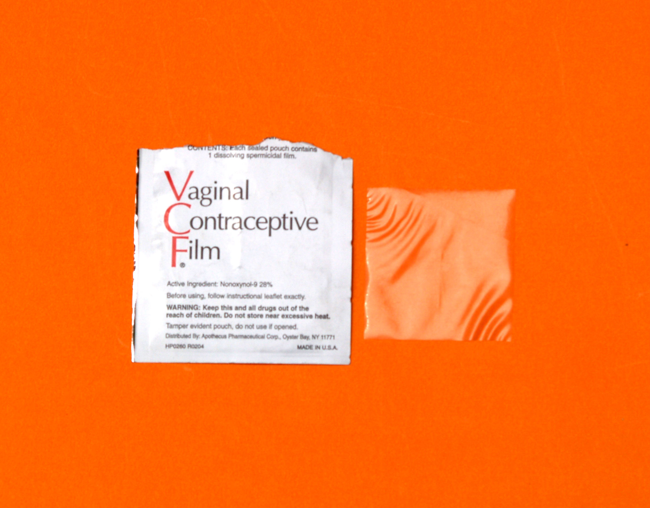 Basic information about vaginal contraceptive film (VCF).