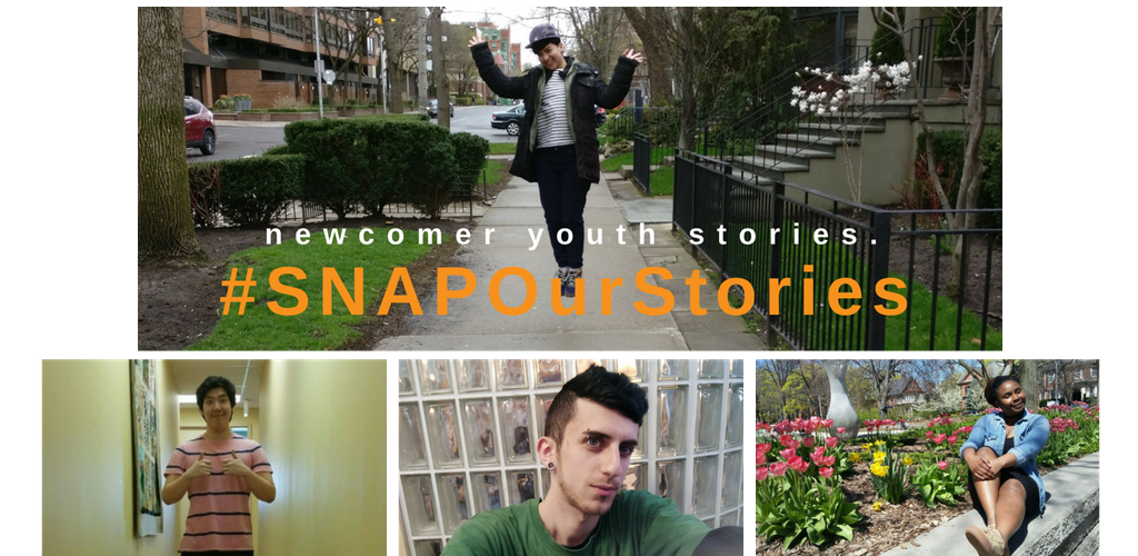 Cover poster for Supporting Newcomer Access Project's #SNAPOurStories initiative
